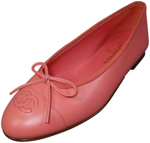 Chanel Coral pink Flats