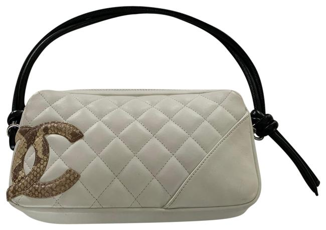Item - Cambon Small Purse White Leather Baguette