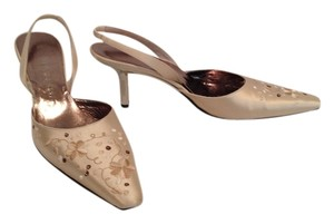 Yves Saint Laurent Sand / Satin Pumps