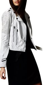 Burberry Runway White Leather Jacket