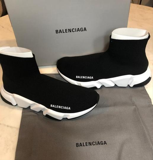 Balenciaga Sneakers Speed Trainer White black Athletic Image 5