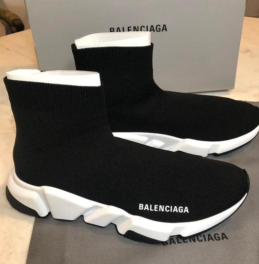 Balenciaga Sneakers Speed Trainer White black Athletic Image 6