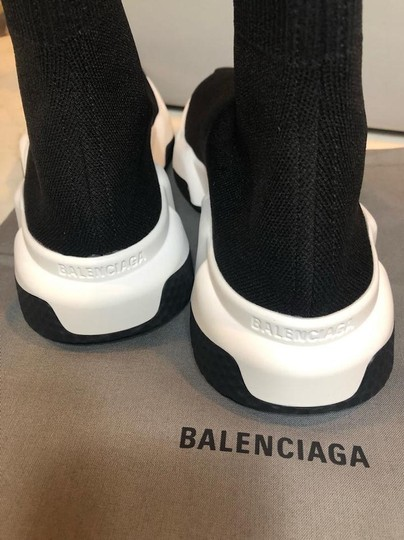 Balenciaga Sneakers Speed Trainer White black Athletic Image 9