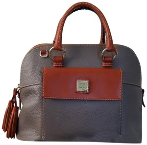 Dooney & Bourke Pebbled Leather With Tags Aubrey Satchel in Elephant