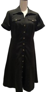 Signature by Robbie Bee short dress Charcoal on Tradesy