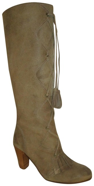 Item - Taupe Alexia Nubuck Tall Leather Boots/Booties Size EU 38.5 (Approx. US 8.5) Regular (M, B)