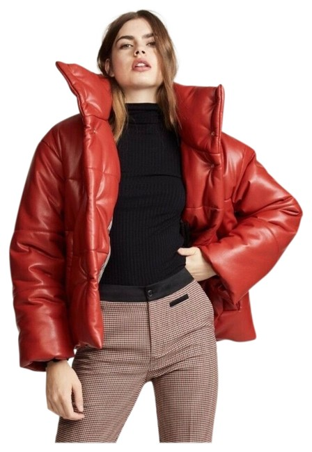 Item - Red Puffer Jacket Size 0 (XS)