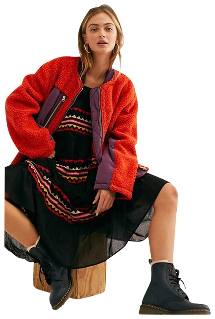 Item - Red Sherpa Jacket Coat Size 6 (S)