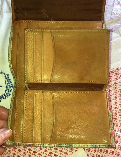 Fossil Striped Leather & Brown Trifold Wallet Image 5