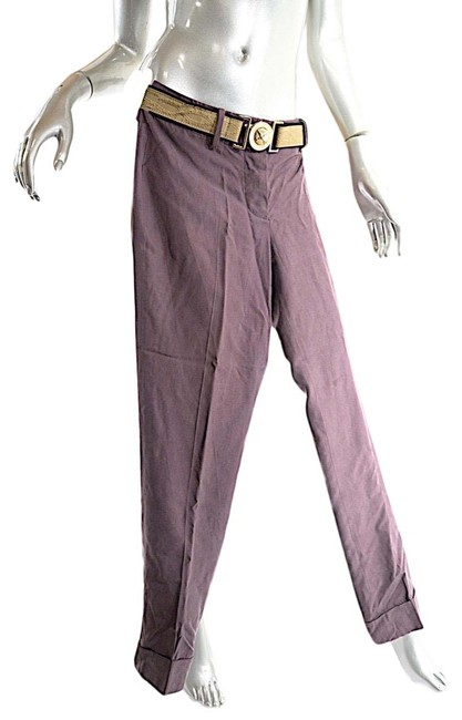 Preload https://img-static.tradesy.com/item/26304186/brown-gaultier-vintage-silk-button-fly-narrow-leg-belted-pan-pants-size-6-s-28-0-1-650-650.jpg