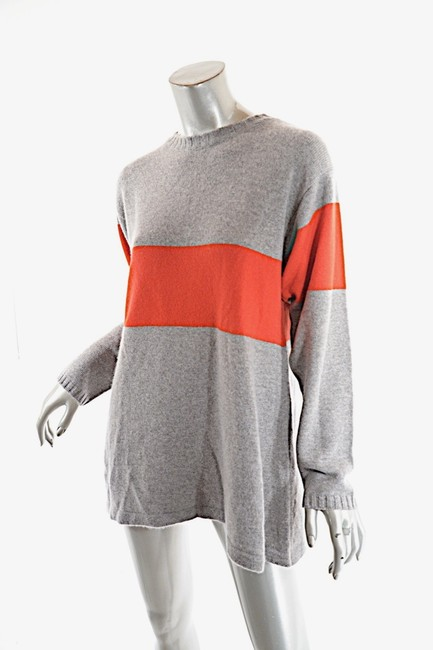 Preload https://img-static.tradesy.com/item/26304246/roth-cashmere-relaxed-wide-red-stripe-grey-orange-sweater-0-0-650-650.jpg