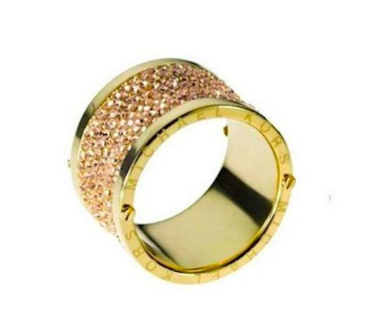 Michael Kors Michael Kors Gold Pave Thick Barrel Ring Paave Size 7 Image 3
