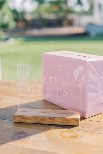 Light Pink Gift Table Signs Reception Decoration Image 1