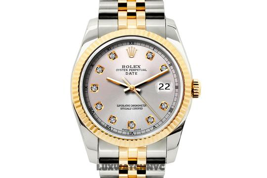 ROLEX 34mm date gold & stainless steel 2tone with box & appraisal Image 1