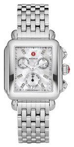 Michele Deco Stainless Steel Mother Of Pearl Diamond Mww06p000014