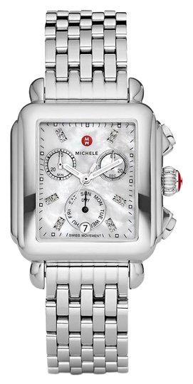 Preload https://img-static.tradesy.com/item/26304354/michele-silver-deco-stainless-steel-mother-of-pearl-diamond-mww06p000014-watch-0-1-540-540.jpg