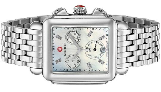 Michele Deco Stainless Steel Mother Of Pearl Diamond Mww06p000014 Image 1