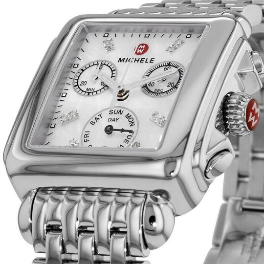 Michele Deco Stainless Steel Mother Of Pearl Diamond Mww06p000014 Image 6