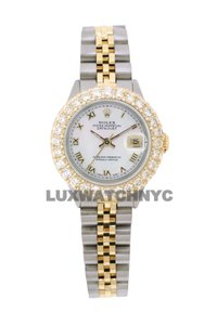 ROLEX 2.5ct Ladies 26mm Datejust Gold & Stainless with Appraisal & BOX