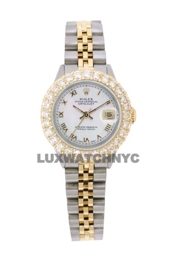 ROLEX 2.5ct Ladies 26mm Datejust Gold & Stainless with Appraisal & BOX Image 9