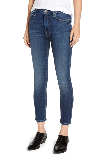 Item - Pardon My French Medium Wash The High Waisted Looker Crop In Straight Leg Jeans Size 26 (2, XS)