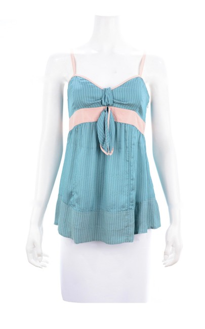 Preload https://img-static.tradesy.com/item/26304423/marc-jacobs-blue-teal-and-light-pink-spaghetti-strap-silk-blouse-size-6-s-0-0-650-650.jpg