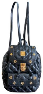 MCM Quilted Leather Studded Backpack
