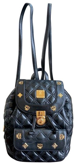 MCM Quilted Leather Studded Backpack Image 0