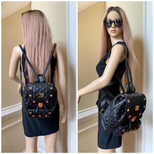 MCM Quilted Leather Studded Backpack Image 3