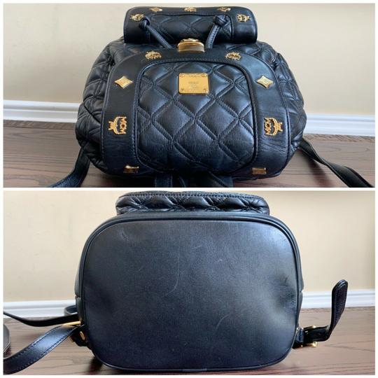 MCM Quilted Leather Studded Backpack Image 5