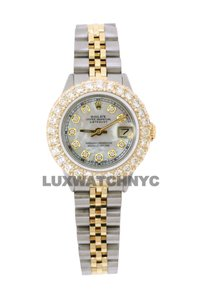 ROLEX 2.5ct Ladies 26mm Datejust Gold & Stainless with BOX & Appraisal