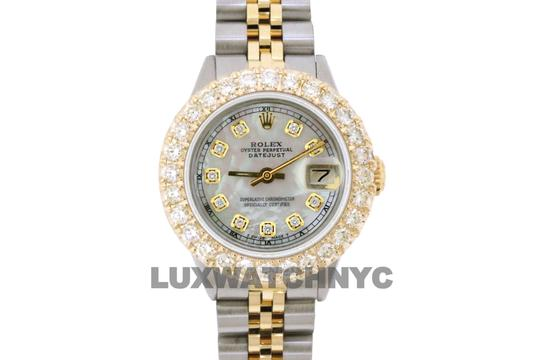 ROLEX 2.5ct Ladies 26mm Datejust Gold & Stainless with BOX & Appraisal Image 5