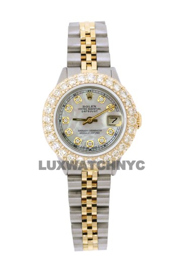 ROLEX 2.5ct Ladies 26mm Datejust Gold & Stainless with BOX & Appraisal Image 6