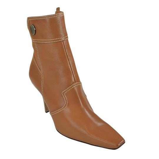 Tod's Heel St. Valetto Leather Walnut Boots Image 1