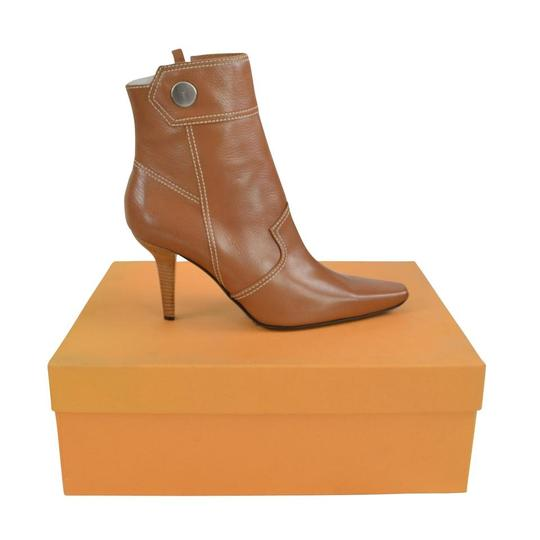 Tod's Heel St. Valetto Leather Walnut Boots Image 2