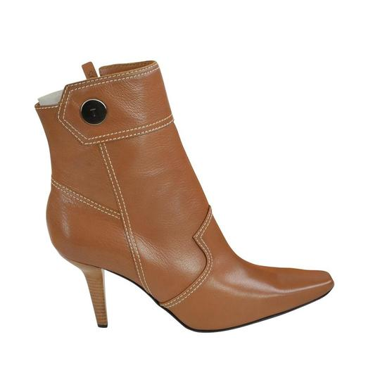 Tod's Heel St. Valetto Leather Walnut Boots Image 3