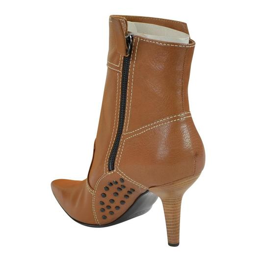 Tod's Heel St. Valetto Leather Walnut Boots Image 4