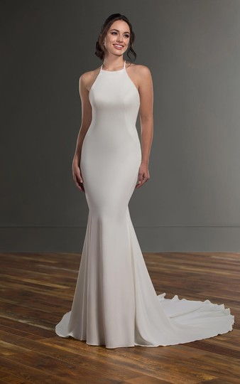 Martina Liana Ivory Silk Natural 1099 Formal Wedding Dress Size 8 (M) Image 1