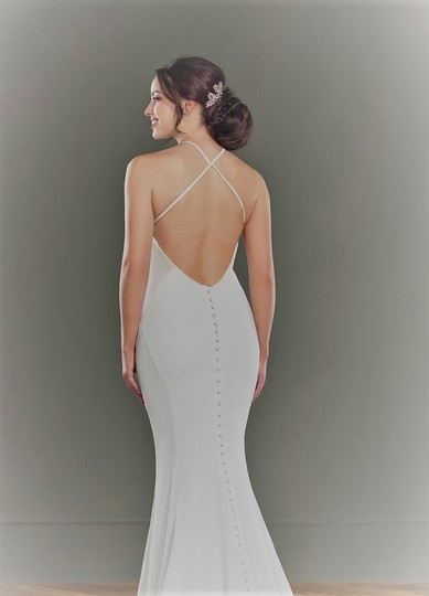Martina Liana Ivory Silk Natural 1099 Formal Wedding Dress Size 8 (M) Image 2
