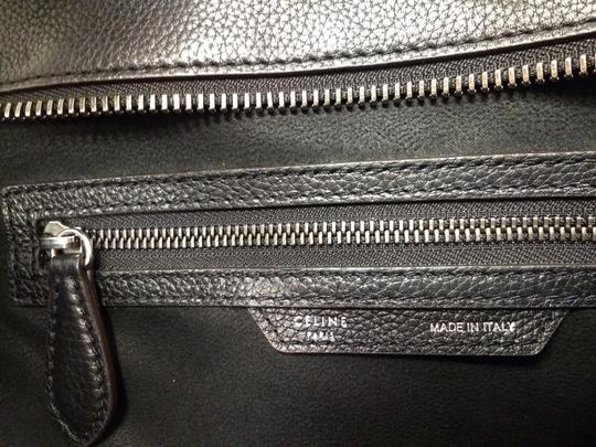 Celine Leather Pebbled Calfskin Classic Tote in Black Image 2