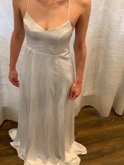 Show Me Your Mumu Ivory Silky Fabric - Polyester XS Simple Destination Wedding Dress Size 0 (XS) Image 1