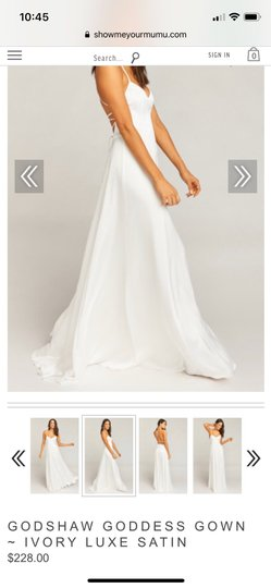 Show Me Your Mumu Ivory Silky Fabric - Polyester XS Simple Destination Wedding Dress Size 0 (XS) Image 10