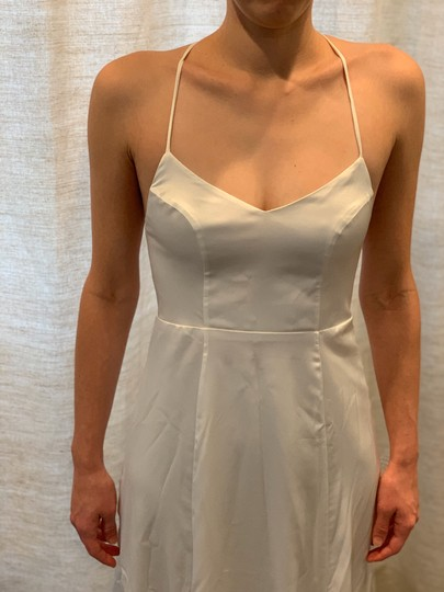 Show Me Your Mumu Ivory Silky Fabric - Polyester XS Simple Destination Wedding Dress Size 0 (XS) Image 4