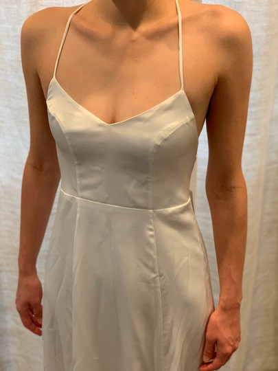 Show Me Your Mumu Ivory Silky Fabric - Polyester XS Simple Destination Wedding Dress Size 0 (XS) Image 5