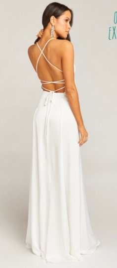 Show Me Your Mumu Ivory Silky Fabric - Polyester XS Simple Destination Wedding Dress Size 0 (XS) Image 8