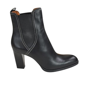 Tod's Tweed Leather Black Boots