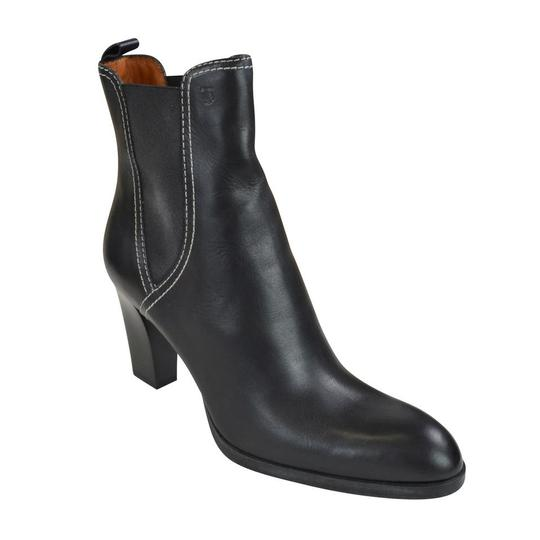 Tod's Tweed Leather Black Boots Image 1