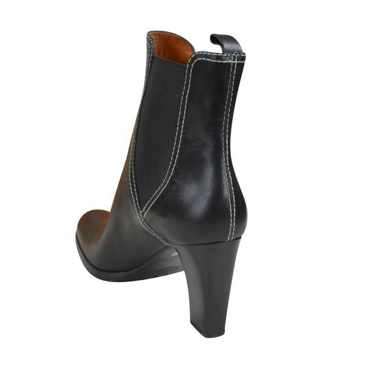 Tod's Tweed Leather Black Boots Image 2