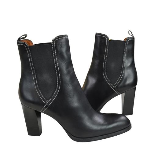 Tod's Tweed Leather Black Boots Image 3