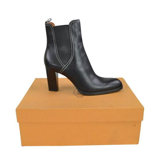 Tod's Tweed Leather Black Boots Image 5